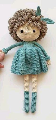 Mini Amigurumi, Crochet Teddy, Crochet Doll Pattern, Crochet Bunny, Crochet Patterns Amigurumi, Amigurumi Doll, Knitting Patterns, Free Crochet, Knitted Dolls
