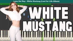 White Mustang Piano Tutorial - Free Sheet Music (Lana Del Rey)