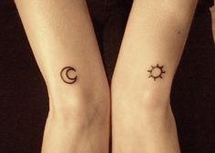 sun and monn tattoos
