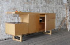 TANDEM   Edge Ply  Sideboard  Furniture - Storage    Birch plywood with ply edge top and desktop linoleum surfaces. All timber parts finished with hardwax oil.  £1750