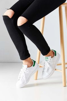 Shop adidas Originals Stan Smith Sneaker at Urban Outfitters today. We carry all the latest styles, colors and brands for you to choose from right here. Slip On Sneakers, White Sneakers, Leather Sneakers, Adidas Stan Smith Sneakers, Adidas Sneakers, Adidas Stan Smith Outfit, Adidas Stan Smith Women, Baskets, Original Stan Smith