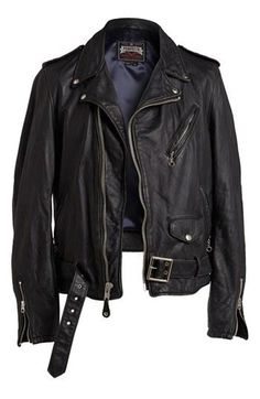 Kickin Mens Leather Moto