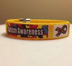 Fabric Autism and Asperger Awareness Bangle Bracelet  http://thehouseofawareness.com/collections/jewelry-watches-fashion-jewelry-bracelets-1/products/fabric-autism-awareness-bangle-bracelet-2
