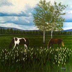 Landscape Paintings, Cow, Animals, Animais, Animales, Animaux, Landscape, Animal, Landscape Drawings