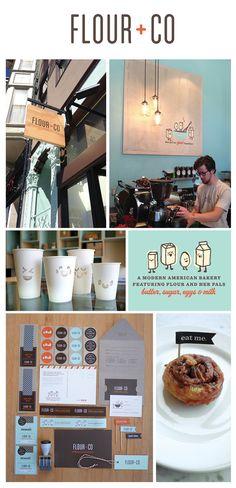 Flour + Co Branding / Rubber Design Craft Packaging, Packaging Design, Brand Identity Design, Branding Design, Sf Travel, Cake Business, Business Ideas, Benefits Of Organic Food, Web Design
