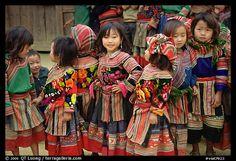 Hmong schoolchildren, Bac Ha, Vietnam