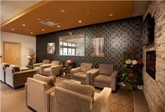 The comfortable, contemporary styling of a Surrey hotel lobby
