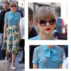 Taylor Swift, vintage fashion style