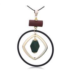 Γυναικείο μακρύ κολιέ με κύκλο και γεωμετρικά σχήματα  🎀Price:$ 10.00 & Free shipping 30€🎀  #electra4u Drop Earrings, Jewelry, Fashion, Moda, Jewlery, Jewerly, Fashion Styles, Schmuck, Drop Earring