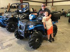 Congratulations to Andy and Drew Muha from Taylorsville, MS for purchasing a 2017 Polaris Sportsman 450 and top hat trailer from Hattiesburg Cycles. #polaris