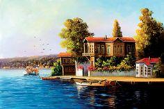 YAĞLI BOYA İSTANBUL MANZARA ybist066