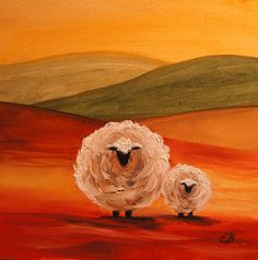 Sheep Painting  - Sheep Fine Art Print