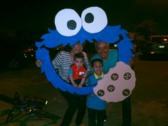 Cookie Monster styrofoam frame Excellent for party picture booth