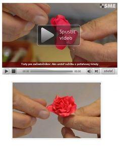 Video: Ako vyrobiť ružový púčik a ružičku z poťahovky - Tortyodmamy.sk