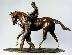 Check out the full story of this awesome Bronze Stature of Eddie Sweat & Secretariat!  Bogucki wanted to include Sweat in the bronze after finding a particularly moving photo during his research