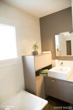 Une salle de bains rénovée