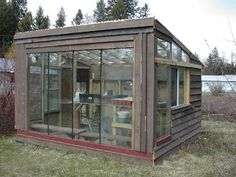 This style of greenhouse is very practical, even if it isn't the most aesthetically appealing.