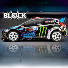 """HPI Racing® 1/18 Micro RS4 Ken Block 2015 Ford® Fiesta ST RX43 4WD RTR. This officially licensed replica drives like a larger R/C car, thanks to a belt-drive 4WD drivetrain and a double wishbone independent front suspension. Of course, Ken's impressive """"Intergalactic"""" paint scheme is here, accurately represented by the car's colorfully painted and detailed body."""