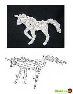 Crochet Unicorn - Chart ❥ 4U // hf