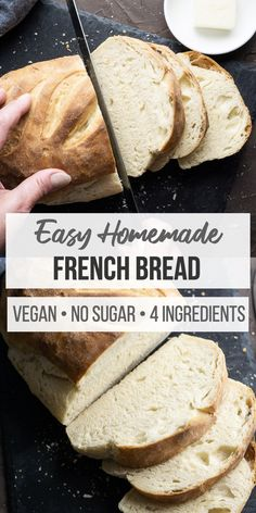 Easy French bread recipe to learn how to make bread with a stand mixer or by hand. This bread recipe uses instant yeast or active dry yeast and you can proof dough in the Instant Pot. Classic French Bread Recipe, Homemade French Bread, Homemade Breads, Instant Yeast, Instant Pot, Beef Recipes, Vegan Recipes, Easy Recipes, Pizza Recipes
