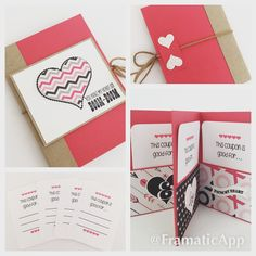 Versatile coupon/gift card books. Great for little gifts for him. These can be used as a coupon book, gift card holder, or just for little notes.