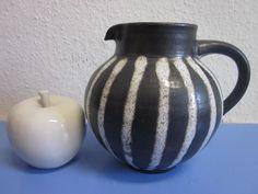 German studio art pottery vase jug pitcher- Monika Maetzel - lava glaze WGP