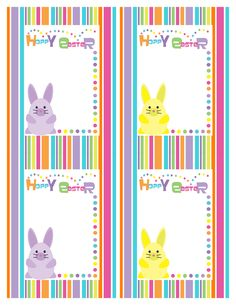 "Bunny Stripe ""Hoppy Easter"" Cards 