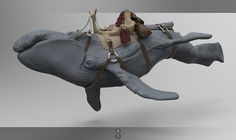 https://www.behance.net/Heliot whale rider zbrush character design