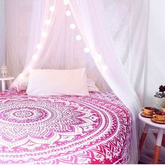 Hey, I found this really awesome Etsy listing at https://www.etsy.com/uk/listing/242018471/indian-mandala-ombre-pink-white-bohemian