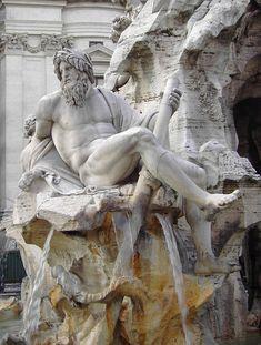 Bernini: Fountain of Four Rivers, Piazza Navona