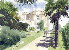 Paint Dunster Castle in watercolour with John Somerscales
