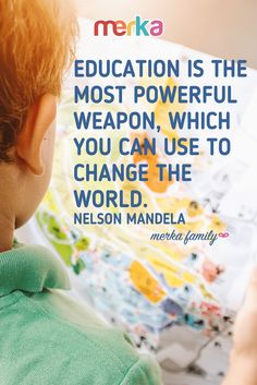 Education is the most powerful weapon which you can use to change the world. Kids Poster, 2 Year Olds, Nelson Mandela, Most Powerful, Change The World, Weapon, More Fun, Teacher, Posters