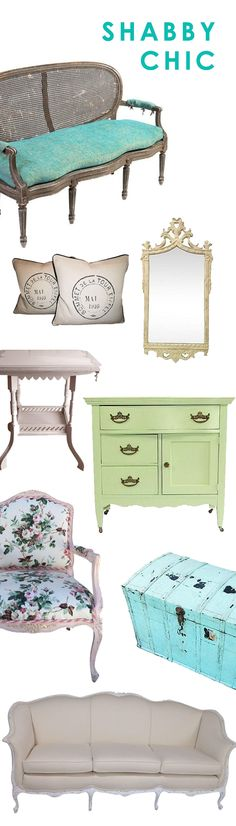 Create a soft, romantic look in your home with shabby chic furniture or decor. Channel that perfect cottage look by shopping hundreds of shabby chic decor on Chairish.