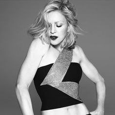 Madonna (and Her Muscles) Is the New Face of Versace