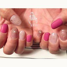 ▪▫⚪◽➰〰▪️▫️⚪️ #nail#art#nailart#ネイル#ネイルアート #ハングル#ワイヤーネイル#kawaii#cute#pink#ショートネイル#nailsalon#ネイルサロン#表参道#pink111#ワイヤー111