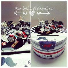 urne anniversaire moto Merveilles et Créations