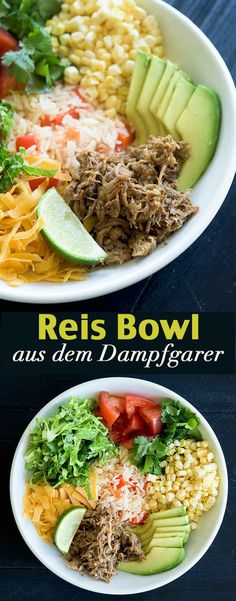 Reis Bowl aus dem Dampfgarer