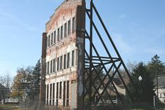 This is the last remaining wall of the Daisy BB gun factory in Plymouth, Michigan. It will soon be torn down, and another piece of history will vanish