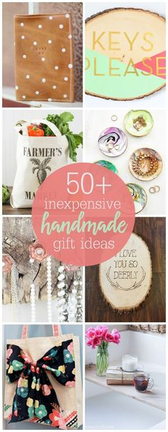 50+ Inexpensive Handmade Gifts for you to be inspired by this holiday season. So many great DIY gifts for friends, neighbors, and family! #handmadegifts