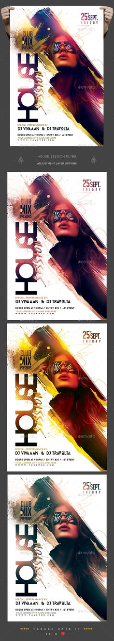 House Session Flyer Template PSD