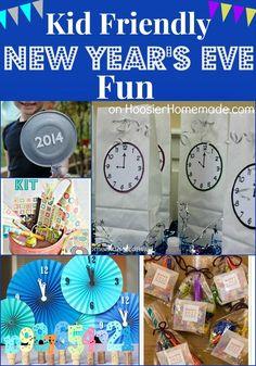 Kid Friendly New Year's Eve Activities on http://HoosierHomemade.com