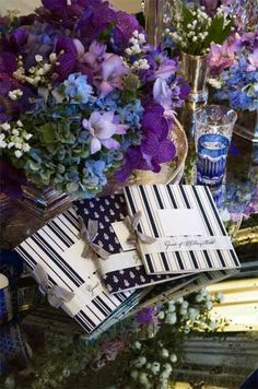 A Nautical Wedding by Colin Cowie | Calligraphy by Jennifer