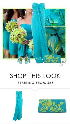 """""""Aqua and Lime"""" by dgia ❤ liked on Polyvore featuring National Geographic Home, Yves Saint Laurent, NOVICA, ShoeDazzle and Mixit"""