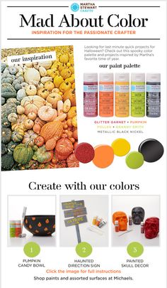 Make Halloween magic using this fun fall color palette from Martha Stewart Crafts latest Mad About Color!
