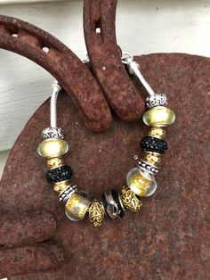 This one is for my Rosedale Elementary friends, but it also works for South Vermillion and Purdue fans! Add a little *SpArKle* To your favorite school gear or outfit! All jewelry comes gift-ready… European Fashion, Lampwork Beads, Fashion Bracelets, Fans, Sparkle, Chain, Store, Friends, School