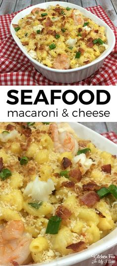Seafood Macaroni and Cheese dinner recipe #seafood #shrimp #dinner