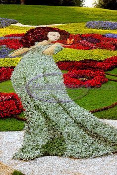 Not something I would do but I do appreciate what this person took the time to do:  Garden Art