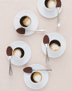Coffee and Hot Chocolate Bar with Chocolate Spoons...must have