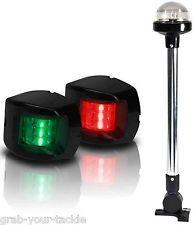BOAT LED NAVIGATION LIGHTS KIT 3 Nav Light Package Port Starboard and 360  White