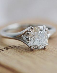Love the modern feel of this stylish and sparkling diamond ring.